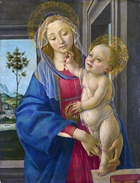 Botticelli | The Virgin and Child with a Pomegranate, c.1480/00 | Giclée Canvas Print