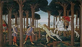Botticelli | The Story of Nastagio degli Onesti I | Giclée Canvas Print