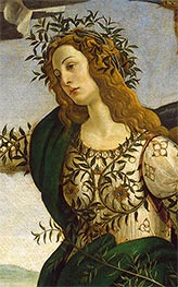 Botticelli | Athene - Detail from Athene and the Centaur | Giclée Canvas Print