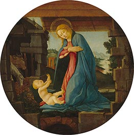 Botticelli | The Virgin Adoring the Child, c.1480/90 | Giclée Canvas Print