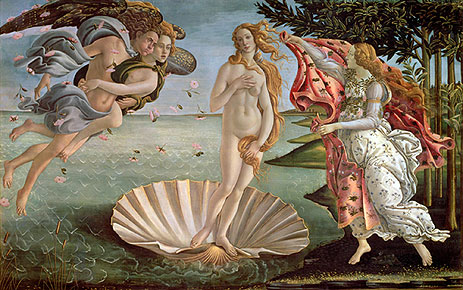 The Birth of Venus, c.1485 | Botticelli | Painting Reproduction