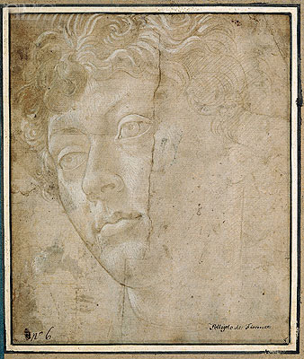 Head of an Angel, Undated | Botticelli | Giclée Paper Print