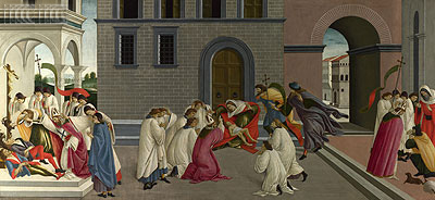 Three Miracles of Saint Zenobius  from Two Spalliera Panels, c.1500 | Botticelli | Giclée Canvas Print