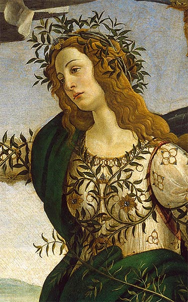 Athene - Detail from Athene and the Centaur, c.1480 | Botticelli | Giclée Canvas Print