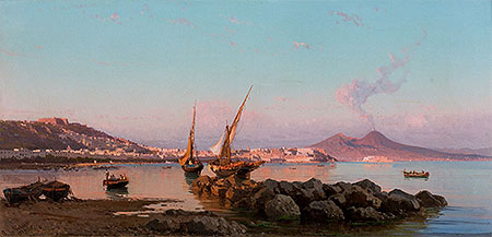 View of the Bay of Naples, 1877 | Alessandro la Volpe | Giclée Canvas Print