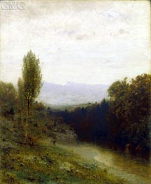 Alexander Wyant | A View of Whiteface Mountain, c.1883 | Giclée Canvas Print