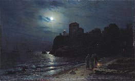 Alexey Savrasov | Moonlight on the Edge of a Lake | Giclée Canvas Print