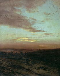 Alexey Savrasov | Evening. Flight of Birds | Giclée Canvas Print