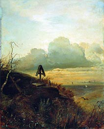 Alexey Savrasov | Tomb on Volga. Vicinities of Yaroslavl, 1874 | Giclée Canvas Print