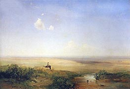 Alexey Savrasov | Steppe. Afternoon, 1852 | Giclée Canvas Print