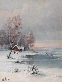 Alexey Savrasov | Coast during Winter, 1891 | Giclée Canvas Print