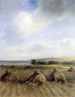 By the End of the Summer on Volga, 1873 | Alexey Savrasov | Giclée Canvas Print