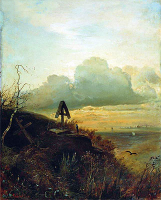 Tomb on Volga. Vicinities of Yaroslavl, 1874 | Alexey Savrasov | Giclée Canvas Print