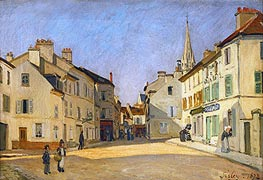 Alfred Sisley | Square in Argenteuil (rue de la Chaussee) | Giclée Canvas Print