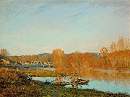 Alfred Sisley | Autumn - Banks of the Seine near Bougival | Giclée Canvas Print