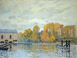 Alfred Sisley | Waterworks at Marly | Giclée Canvas Print