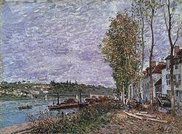 Alfred Sisley | Overcast Day at Saint-Mammès | Giclée Canvas Print