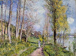 Alfred Sisley   Banks of the Seine   Giclée Canvas Print