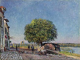 Alfred Sisley | The Chestnut in St. Mammès, 1880 | Giclée Canvas Print