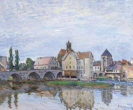Alfred Sisley | Moret-sur-Loing - Gray Weather, c.1892 | Giclée Canvas Print