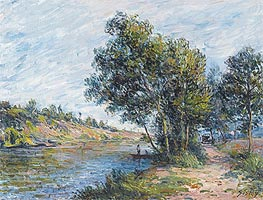 Alfred Sisley | Path to Veneux, the Slopes of the Celle, 1881 | Giclée Canvas Print