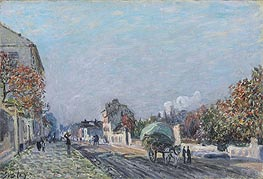 Alfred Sisley | A Street in Marly, undated | Giclée Canvas Print