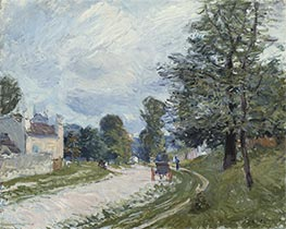 Alfred Sisley | A Turn in the Road, 1873 | Giclée Canvas Print