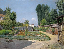 Alfred Sisley | The Kitchen Garden | Giclée Canvas Print