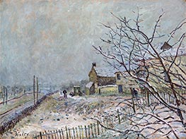 Alfred Sisley | First Snow at Veneux-Nadon | Giclée Canvas Print