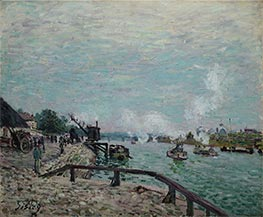 Alfred Sisley | Seine at Grenelle | Giclée Canvas Print