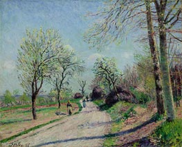 Alfred Sisley | Road from Veneux to Moret - Spring Day | Giclée Canvas Print