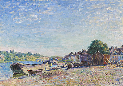The Banks of the Loing at Saint-Mammès, 1885 | Alfred Sisley | Giclée Canvas Print