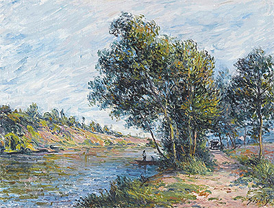 Path to Veneux, the Slopes of the Celle, 1881 | Alfred Sisley | Giclée Canvas Print