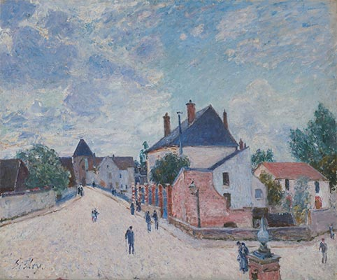 Street in Moret, c.1890 | Alfred Sisley | Giclée Canvas Print
