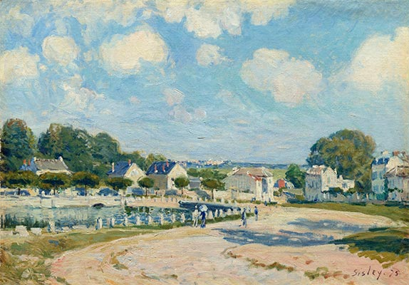 Watering Place at Marly, 1875 | Alfred Sisley | Giclée Canvas Print