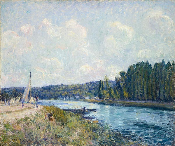 Alfred Sisley | The Banks of the Oise, c.1877/78 | Giclée Canvas Print
