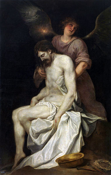 The Dead Christ held by an Angel, c.1646/52 | Alonso Cano | Giclée Canvas Print