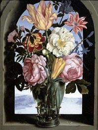 Ambrosius Bosschaert | Still Life of Flowers in a Drinking Glass | Giclée Canvas Print