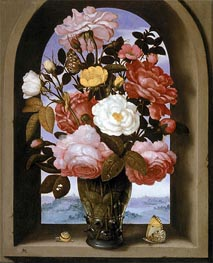 Ambrosius Bosschaert | Still Life with Roses in a Berkemeijer Glass | Giclée Canvas Print