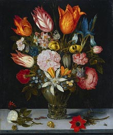 Ambrosius Bosschaert | Flowers in a Glass | Giclée Canvas Print