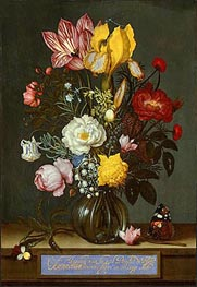 Ambrosius Bosschaert | Bouquet of Flowers in a Glass Vase | Giclée Canvas Print