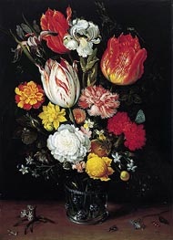 Ambrosius Bosschaert | Flowers in a Glass Beaker | Giclée Canvas Print