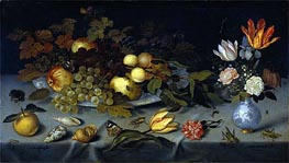 Ambrosius Bosschaert | Still Life with Fruit and Flowers | Giclée Canvas Print
