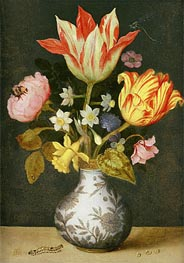 Ambrosius Bosschaert | Still Life with a Wan'li Vase of Flowers | Giclée Canvas Print