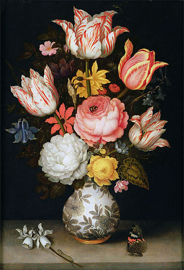 Still Life with Flowers, undated | Ambrosius Bosschaert | Giclée Canvas Print