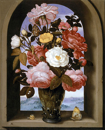 Still Life with Roses in a Berkemeijer Glass, undated | Ambrosius Bosschaert | Giclée Canvas Print