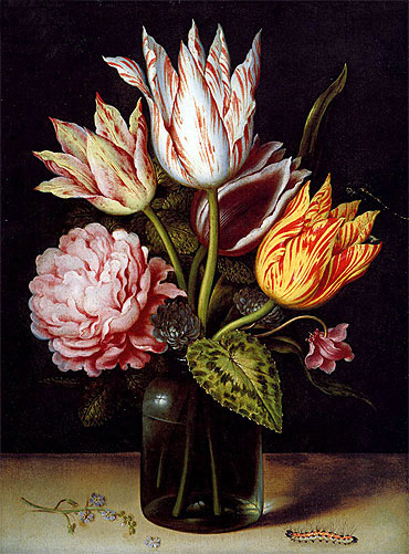 A Still Life with a Bouquet of Tulips, undated | Ambrosius Bosschaert | Giclée Canvas Print