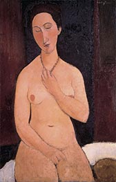 Modigliani | Sitting Nude with Necklace | Giclée Canvas Print