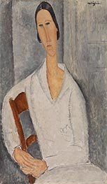 Modigliani | Madame Hanka Zborowska Leaning on a Chair | Giclée Canvas Print