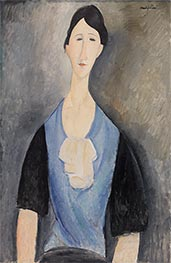 Modigliani | Young Woman in Blue | Giclée Canvas Print